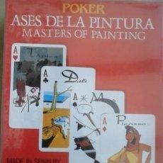 Barajas de cartas: BARAJA ASES DE LA PINTURA -POKER- DE LA CASA NAIPES COMAS EN ESTUCHE SIN DESPRECINTAR. Lote 171624059