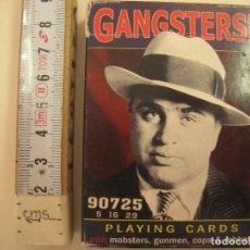 Barajas de cartas: GANGSTERS PLAYING CARDS POKER IMAGENES AMERICANAS AÑOS 40 50 AL CAPONE. Lote 171727207