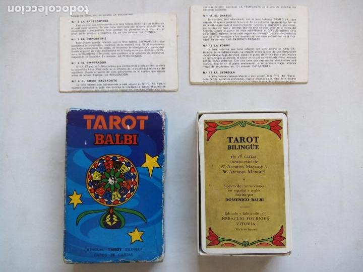 Barajas de cartas: TAROT BALBI. HERACLIO FOURNIER. VITORIA. ESPAÑA 1978. DIBUJOS ORIGINALES DOMENICO BALBI. - Foto 2 - 171808327