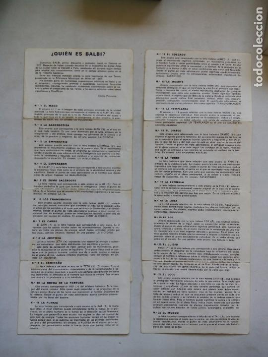 Barajas de cartas: TAROT BALBI. HERACLIO FOURNIER. VITORIA. ESPAÑA 1978. DIBUJOS ORIGINALES DOMENICO BALBI. - Foto 3 - 171808327