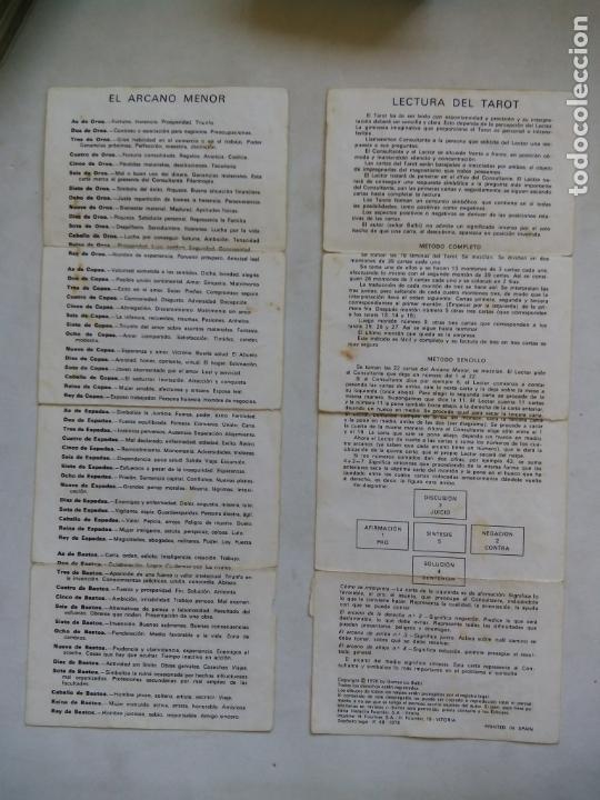Barajas de cartas: TAROT BALBI. HERACLIO FOURNIER. VITORIA. ESPAÑA 1978. DIBUJOS ORIGINALES DOMENICO BALBI. - Foto 4 - 171808327