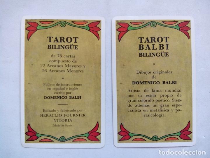 Barajas de cartas: TAROT BALBI. HERACLIO FOURNIER. VITORIA. ESPAÑA 1978. DIBUJOS ORIGINALES DOMENICO BALBI. - Foto 5 - 171808327