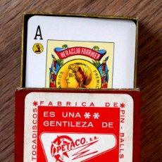 Barajas de cartas: BARAJA CON ESTUCHE PUBLICIDAD PETACO, S.A. FÁBRICA PIN-BALLS Y TOCADISCOS - HERACLIO FOURNIER. Lote 171822399