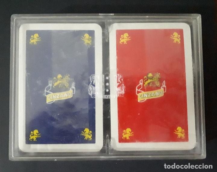 Barajas de cartas: ESTUCHE CON 2 BARAJAS FOURNIER CINZANO - Foto 2 - 171835950