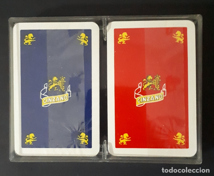 ESTUCHE CON 2 BARAJAS FOURNIER CINZANO (Juguetes y Juegos - Cartas y Naipes - Barajas de Póker)
