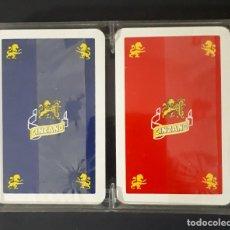 Barajas de cartas: ESTUCHE CON 2 BARAJAS FOURNIER CINZANO. Lote 171835950