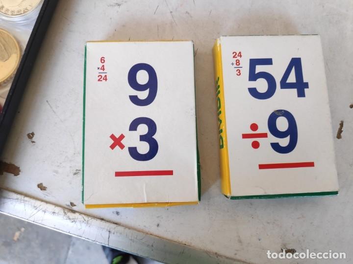 Barajas de cartas: JUEGO DE 2 BARAJAS EDUCATIVAS 1° DE MULTIPLICAR Y 2° DIVIDIR -VARITEMAS ESPAÑA- - Foto 3 - 268586459
