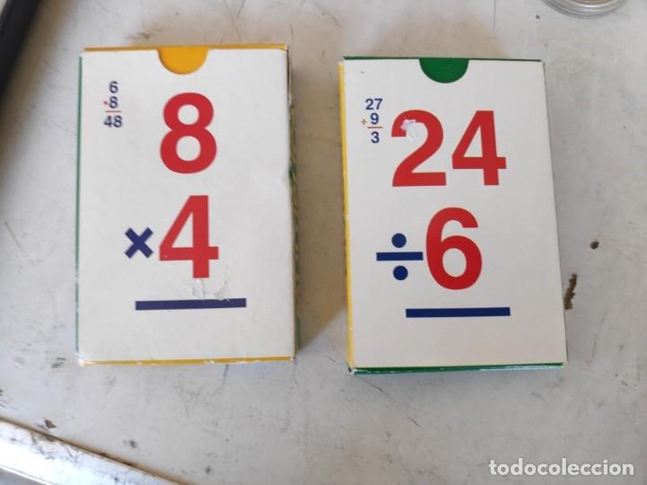 JUEGO DE 2 BARAJAS EDUCATIVAS 1° DE MULTIPLICAR Y 2° DIVIDIR -VARITEMAS ESPAÑA- (Juguetes y Juegos - Cartas y Naipes - Otras Barajas)