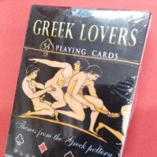 Barajas de cartas: GREEK LOVERS - BARAJA DE POKER ERÓTICA. Lote 172176582