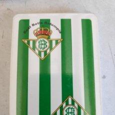 Barajas de cartas: BARAJA ESPAÑOLA REAL BETIS BALOMPIE DE-NAIPES COMAS- A DESPRECINTAR. Lote 172189264