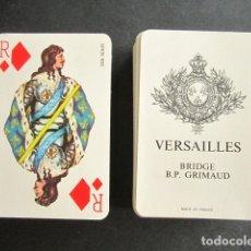 Barajas de cartas: BARAJA DOBLE VERSAILLES. BRIDGE. B.P. GRIMAUD. FRANCIA. COMPLETA. 108 NAIPES. . Lote 172283573