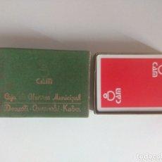 Barajas de cartas: BARAJA DE CARTAS CAJA DE AHORROS MUNICIPAL CAM DONOSTI SAN SEBASTIÁN. Lote 111067678