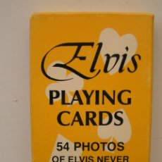 Barajas de cartas: BARAJA DE CARTAS POKER : ELVIS PRESLEY - CON 54 FOTOS DE ELVIS - PLAYING CARDS - BOB HEIS 1977 - C. Lote 172562172