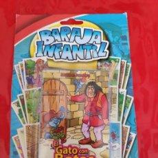 Barajas de cartas: BARAJA INFANTIL EL GATO CON BOTAS-NAIPES COLECCION CUENTOS CLASICOS. Lote 172855978