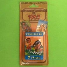 Barajas de cartas: BARAJA JUEGO DE NAIPES FOURNIER - FAMILIAS DE 7 PAISES ED. LIMITADA ORIG. DE 1965 (ARTICULO NUEVO). Lote 50597809