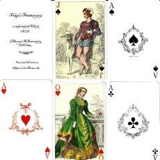Barajas de cartas: BARAJA POKER TRAJES FRANCESES DE H. FOURNIER. Lote 172925482