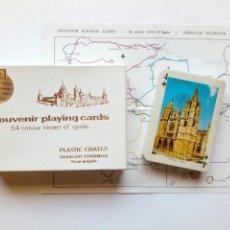 Barajas de cartas: BARAJA PRECINTADA - (1967) SOUVENIR PLAYING CARDS, 54 COLOUR VIEWS OF SPAIN - FOURNIER -. Lote 172965218