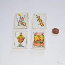 Barajas de cartas: JUEGO DE MESA BARAJA ESPAÑOLA MARCA H. FOURNIER VITORIA COLECCIÓN CASI COMPLETA MINIATURA LILIPUT. Lote 173007558