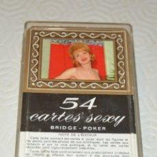 Barajas de cartas: 54 CARTES SEXY - BRIDGE - POKER - EN CAJA - COMPLETA. Lote 173012459