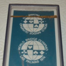 Barajas de cartas: HERACLIO FOURNIER - WORLD BRIDGE OLYMPIAD - LAS PALMAS 1974 - EN CAJA PRECINTADA. Lote 173013003