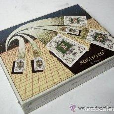 Barajas de cartas: JUEGO SOLILOTO PRECINTADO - 2 BARAJAS NUMERICAS + 1 LIBRO DE TABLAS SOLITARIOS Y JUEGOS. NAIPES COMA. Lote 173044702