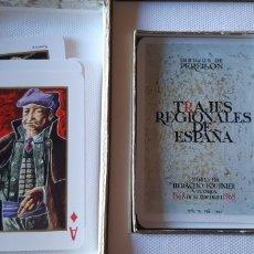 Barajas de cartas: ANTIGUA BARAJA POKER TRAJES REGIONALES DE ESPAÑA 1868-1968, HERACLIO FOURNIER 1967. Lote 173069132