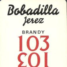 Barajas de cartas: BARAJA ESPAÑOLA DE 40 CARTAS. PUBLICIDAD DE 103 DE BOBADILLA. JEREZ. NAIPES DE HERACLIO FOURNIER. Lote 173090254