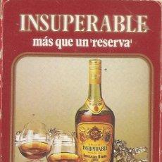 Barajas de cartas: BARAJA ESPAÑOLA DE 40 CARTAS. PUBLICIDAD DE INSUPERABLE DE GONZALEZ BYASS. JEREZ. NAIPES FOURNIER. Lote 173091577