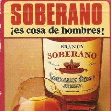 Barajas de cartas: BARAJA ESPAÑOLA DE 40 CARTAS. PUBLICIDAD DE SOBERANO DE GONZALEZ BYASS. JEREZ. NAIPES FOURNIER. Lote 173096553