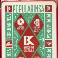 Barajas de cartas: BARAJA ESPAÑOLA DE 40 CARTAS. PUBLICIDAD DE BANCA DE CASTILLA. POPULARINSA. NAIPES DE FOURNIER. Lote 173096834