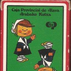Barajas de cartas: BARAJA ESPAÑOLA DE 40 CARTAS. PUBLICIDAD DE ARABAKO KUTXA. NAIPES DE HERACLIO FOURNIER. Lote 173097207