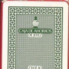 Barajas de cartas: BARAJA ESPAÑOLA DE 40 CARTAS. PUBLICIDAD DE CAJA DE AHORROS DE JEREZ. NAIPES DE HERACLIO FOURNIER. Lote 173097247