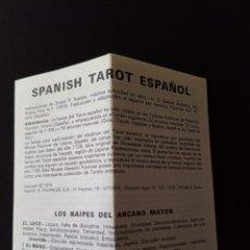 Barajas de cartas: CTC - DESPIECE BARAJA SPANISH TAROT ESPAÑOL FOURNIER 1979 - SOLO INSTRUCCIONES EN ESPAÑOL. Lote 173106318