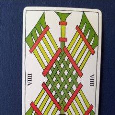 Barajas de cartas: CTC - DESPIECE BARAJA SPANISH TAROT ESPAÑOL FOURNIER 1979 - SOLO CARTA NUEVE DE BASTOS. Lote 173133029