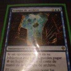 Barajas de cartas: TRAMPA DE ARCHIVO , MAGIC THE GATHERING. Lote 173427943