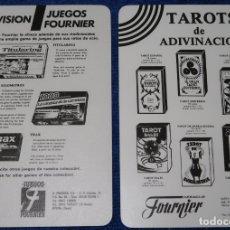 Barajas de cartas: CARTAS PUBLICITARIAS DE PRODUCTOS FOURNIER - JUEGOS - BARAJAS. Lote 173509014