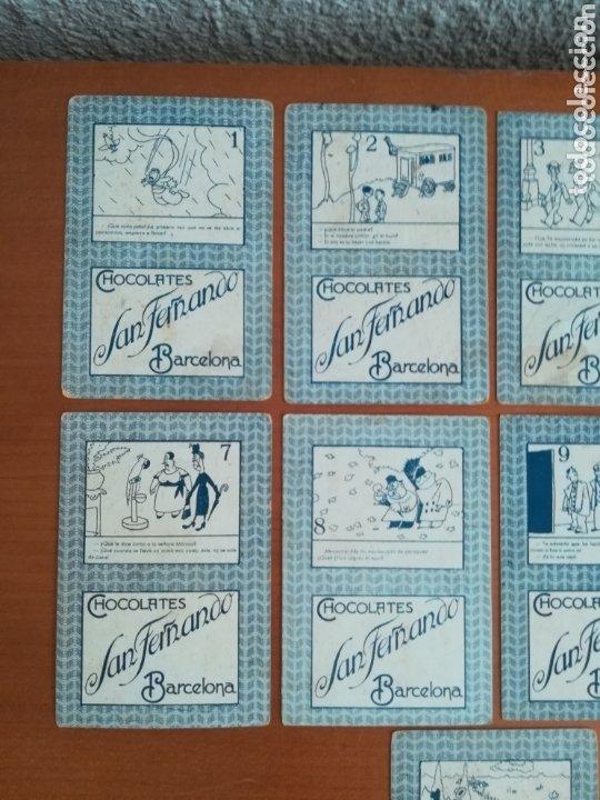 Barajas de cartas: Antigua Baraja cartas publicidad Chocolates San Fernando Ilustraciones Bofarull - 1932 - Incompleta - Foto 6 - 173866544