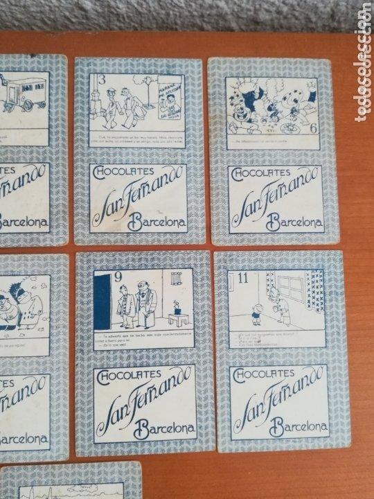 Barajas de cartas: Antigua Baraja cartas publicidad Chocolates San Fernando Ilustraciones Bofarull - 1932 - Incompleta - Foto 7 - 173866544