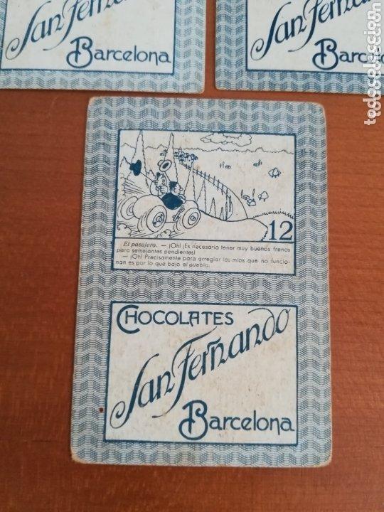Barajas de cartas: Antigua Baraja cartas publicidad Chocolates San Fernando Ilustraciones Bofarull - 1932 - Incompleta - Foto 8 - 173866544