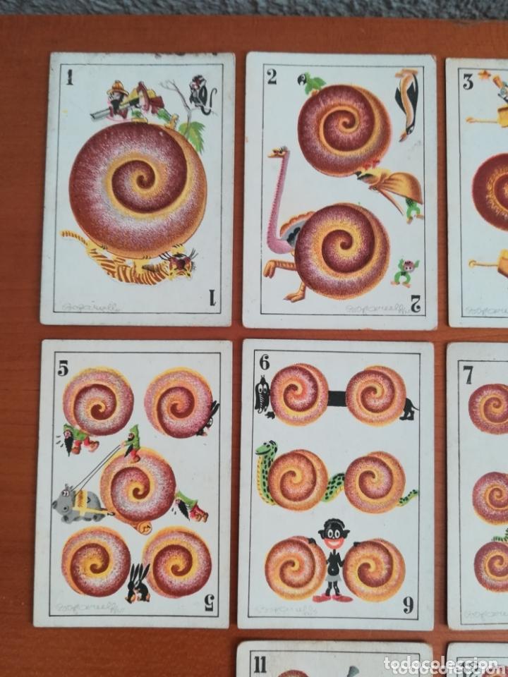 Barajas de cartas: Antigua Baraja cartas publicidad Chocolates San Fernando Ilustraciones Bofarull - 1932 - Incompleta - Foto 10 - 173866544