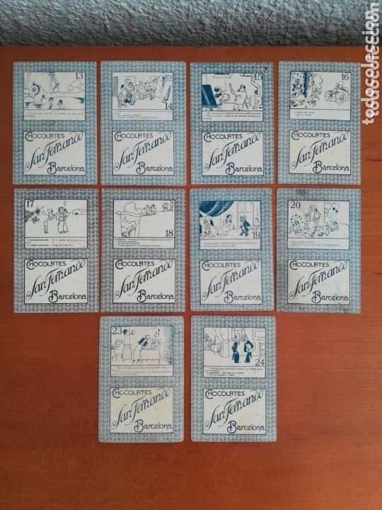 Barajas de cartas: Antigua Baraja cartas publicidad Chocolates San Fernando Ilustraciones Bofarull - 1932 - Incompleta - Foto 14 - 173866544