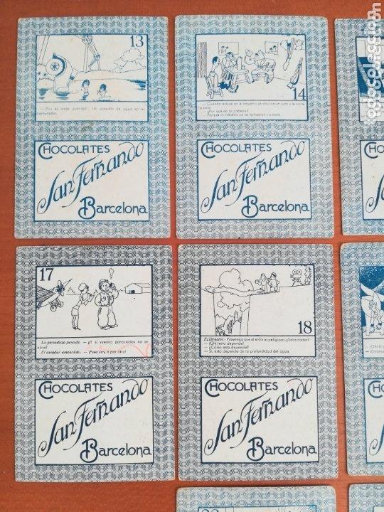 Barajas de cartas: Antigua Baraja cartas publicidad Chocolates San Fernando Ilustraciones Bofarull - 1932 - Incompleta - Foto 15 - 173866544