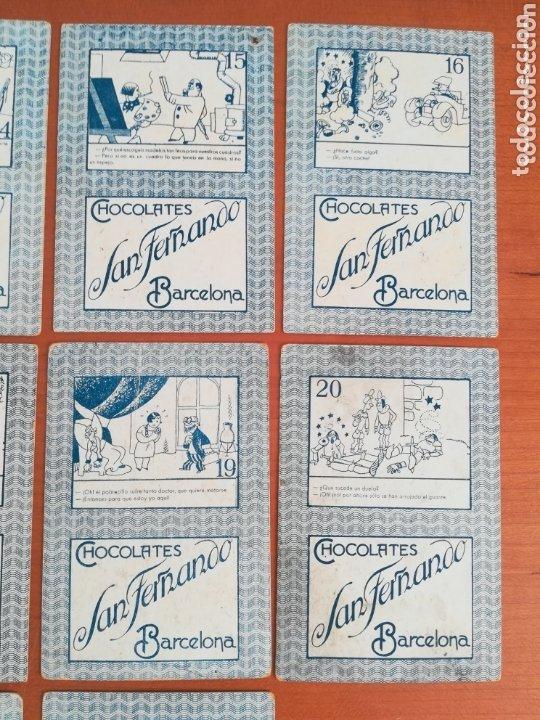 Barajas de cartas: Antigua Baraja cartas publicidad Chocolates San Fernando Ilustraciones Bofarull - 1932 - Incompleta - Foto 16 - 173866544