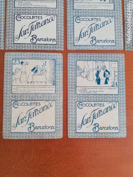Barajas de cartas: Antigua Baraja cartas publicidad Chocolates San Fernando Ilustraciones Bofarull - 1932 - Incompleta - Foto 17 - 173866544