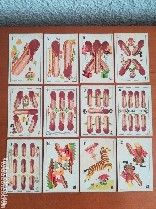 Barajas de cartas: Antigua Baraja cartas publicidad Chocolates San Fernando Ilustraciones Bofarull - 1932 - Incompleta - Foto 18 - 173866544