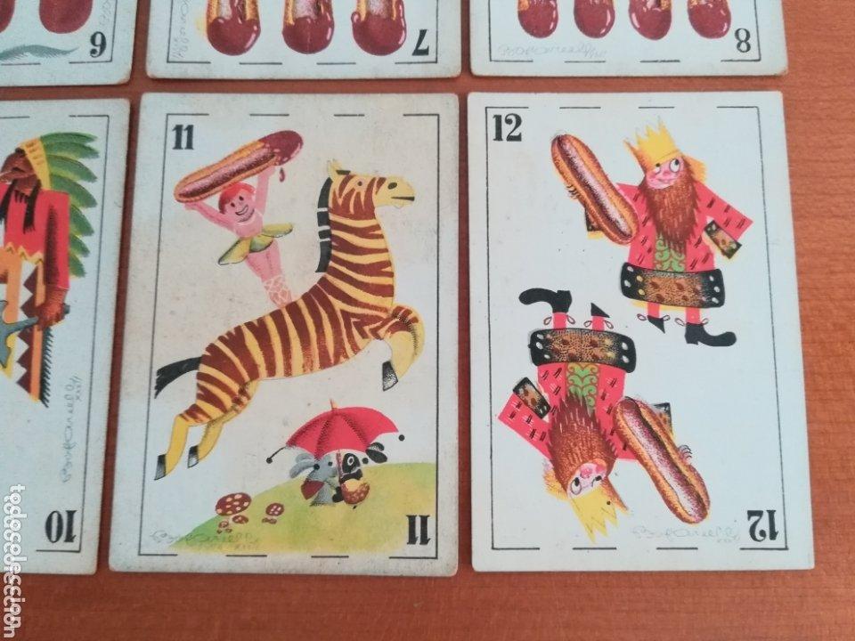 Barajas de cartas: Antigua Baraja cartas publicidad Chocolates San Fernando Ilustraciones Bofarull - 1932 - Incompleta - Foto 21 - 173866544
