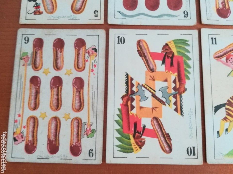Barajas de cartas: Antigua Baraja cartas publicidad Chocolates San Fernando Ilustraciones Bofarull - 1932 - Incompleta - Foto 22 - 173866544