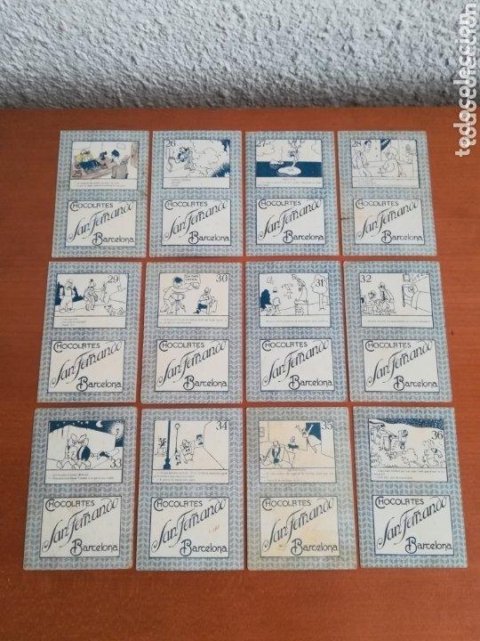 Barajas de cartas: Antigua Baraja cartas publicidad Chocolates San Fernando Ilustraciones Bofarull - 1932 - Incompleta - Foto 23 - 173866544