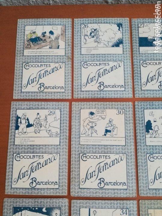 Barajas de cartas: Antigua Baraja cartas publicidad Chocolates San Fernando Ilustraciones Bofarull - 1932 - Incompleta - Foto 24 - 173866544