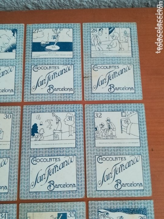 Barajas de cartas: Antigua Baraja cartas publicidad Chocolates San Fernando Ilustraciones Bofarull - 1932 - Incompleta - Foto 25 - 173866544